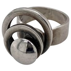 A fun Sterling Silver Spinner Ring