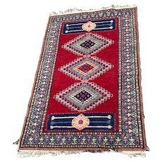 Vintage Small Persian Woven Rug
