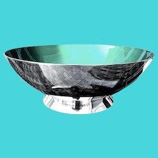 Mid Century Danish Sterling & Enamel Bowl