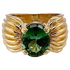 Vintage 14K Gold Tourmaline Ring