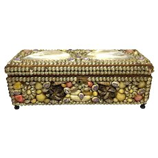 Victorian 19th C. Shell Encrusted Jewel Box