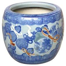 Japanese Meiji Porcelain Jardinaire Planter