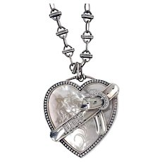 Juicy Couture Sterling MOP Diamond Locket Necklace
