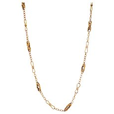 Victorian 14K Gold Link Chain Necklace