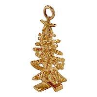 Vintage 14K Gold Christmas Tree Charm
