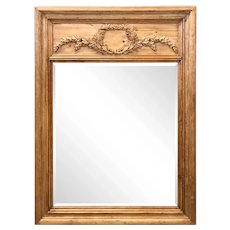 Continental Carved Pine Pier Mirror 19th Century