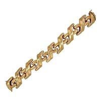 Vintage Italian 14K Gold Articulated Link Bracelet