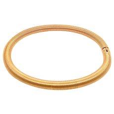 Fabulous 14K Gold Wire Twisted Bangle Bracelet