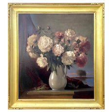 Peter Layne Arguimbau Still Life of Peonies in Vase