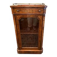 19th C. French Walnut Cabinet With Floral Inlay