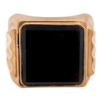 Art Deco / Retro 9K Man's Onyx Ring
