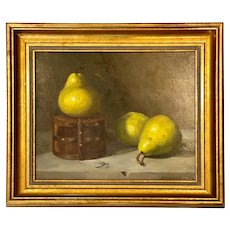 Still Life With Pears, Oil on Panel, Painting by Beth DeLoiselle