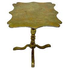 English Miniature Brass Tilt Top Table c. 1820