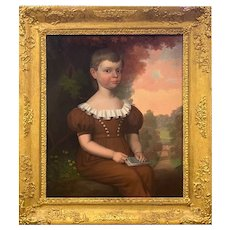 Robert Street 1831 Portrait Of Young Boy Oil on Canvas