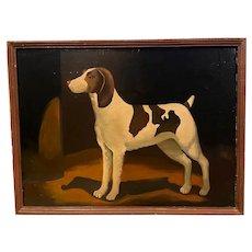 Vintage Primitive Hound Dog Portrait