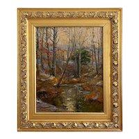 "Robert Kilbert "" Woodland Landscape "" Impressionist Oil On Canvas"