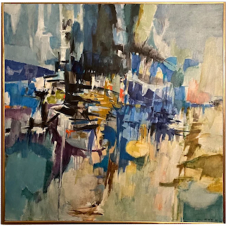Albert Alcalay American Modernist Abstract Oil Painting