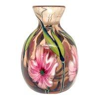 Charles Lotton Vintage Multi Flora Studio Art Glass Vase 1982