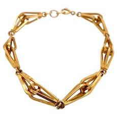 Vintage 14K Gold Link Bracelet