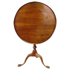 18th Century American Bird Cage Tilt Top Tea Table 1770