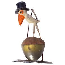 Figural Sewing Pincushion Novelty Stork Hat Shamrock