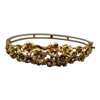 14 k Bangle Bracelet Gemstones Designer
