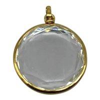 Antique 18k Gold  Rock Crystal Pendant