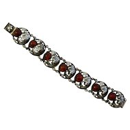 Vintage N.E. From Amber / Silver Fish Bracelet