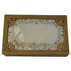 18 c French Palais Royal Sewing Box & Tools  Gilded