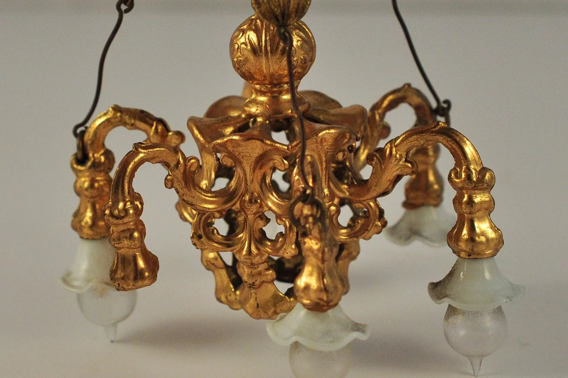 Antique german miniature dollhouse ormolu chandelier erhard sohne click to expand arubaitofo Image collections