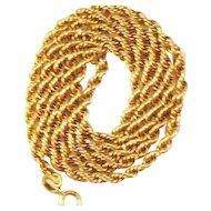 "Vintage 10 kt Fancy Gold Circle Link Chain   18"""