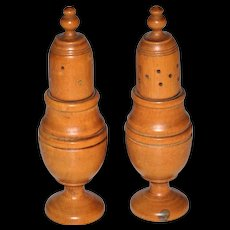 Victorian/Georgian Treen Wood Shakers Salt and Pepper