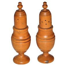 Victorian/Georgian Treen Wood Shakers Salt and Pepper