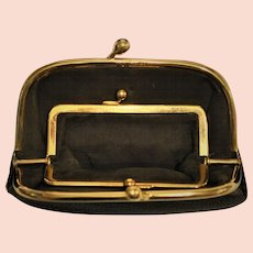 Tiffany 14 kt Gold Leather Purse Tiffany and Company 1940's