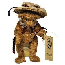 Vintage Mohair Teddy Bear Glass Eyes Listed Bear artist