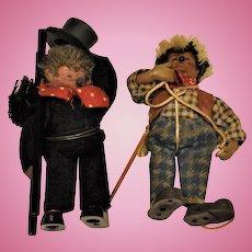 Vintage Steiff Mohair Hedgehog Chimney Sweep & Hiker (2)