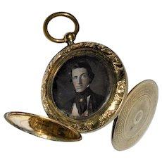American Civil War Pendant  Double Pendant /Two Photographs Brigadier General  1860's