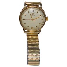 Omega Mens Wristwatch 14 kt yellow gold  Fixo Flex band   Vintage Omega