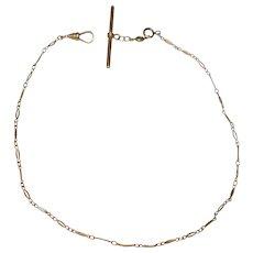 "Antique 10 kt gold Watch Chain Fancy Links 14 1/2"""