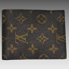 Authentic Monogrammed  Louis Vuitton Bi Fold Wallet Purse leather Paris