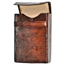 Unique 1920's Snakeskin Cigarette Case Box