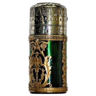 French Atomizer Perfume Bottle Ormolu Baccarrat Crowned Eagle