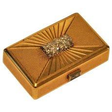 1800's European 18 k Gold Diamond Snuff Box