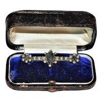 Antique Russian 84 Silver Gemstone Brooch Faberge?
