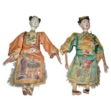 19th Century Chinese Opera Dolls Qing