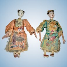 19th Century Chinese Opera Dolls Qing