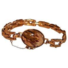 19th century Moss Agate Rose Gold Bracelet
