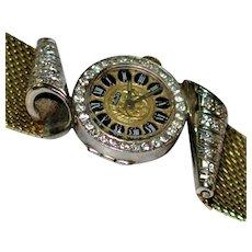 Vintage 14 kt Volaire Designer Diamond Wristwatch