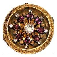 Antique 14 kt Gold Garnet brooch