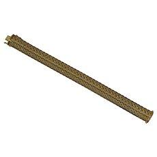 Vintage Gold Mesh Bracelet Signed FBM